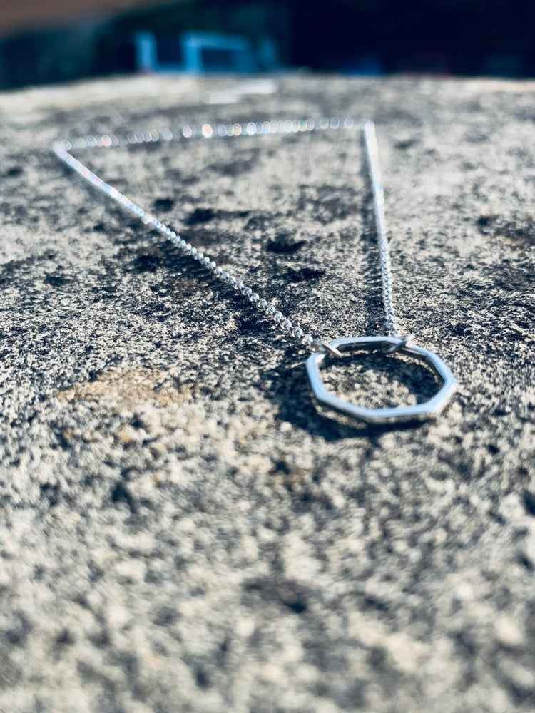Image of Silver Octagon Necklace