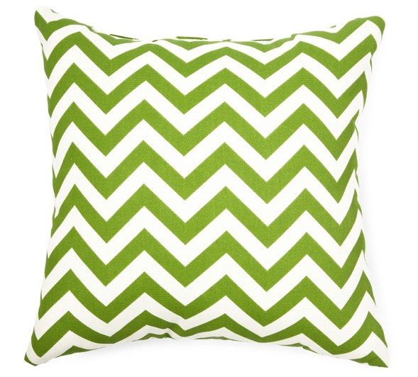 Image of Lime Green Zigzag Pillow