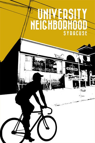 Image of university 'hood neighborhood print