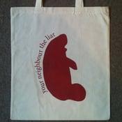 Image of Manatee tote bag