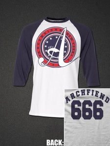 "Image of ""Archfiend"" Baseball Tee"