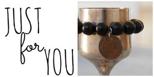 Image of JUST for YOU - Black bead bracelet
