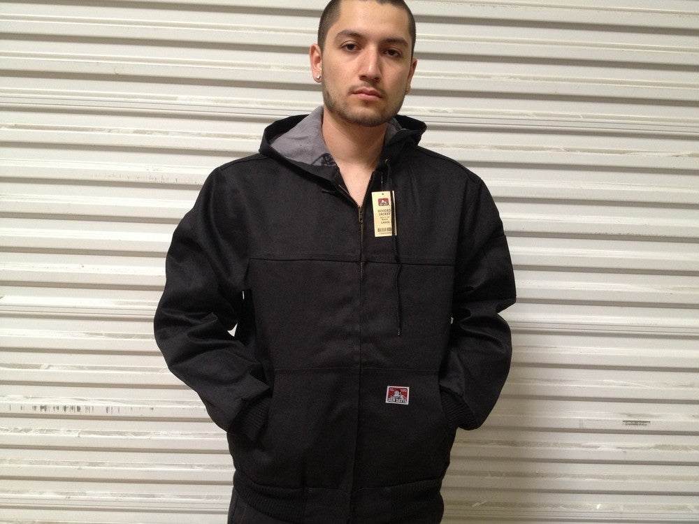 Image of Ben Davis Polar Fleece Lining Style #344 (Car-Lux Front Zip Hooded Denim Jacket)