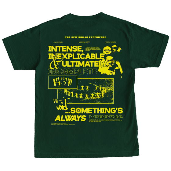 Image of New Human Experience Shirt Forest Green