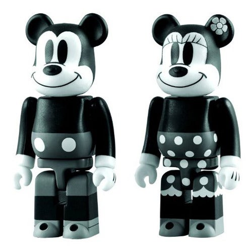 Image of Mickey Mouse and Minnie Mouse Bearbrick 2-Pack