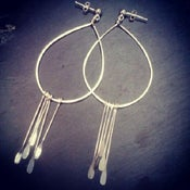 Image of Sterling hoop with silver paddles