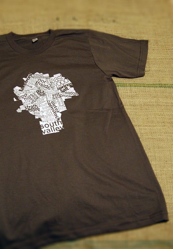 Image of city map T-shirt