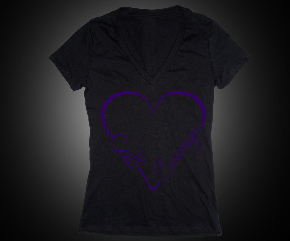 Image of Ladies - I Heart Cali Savage (Vneck)