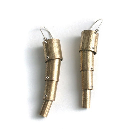 Image of brass wiggly earring