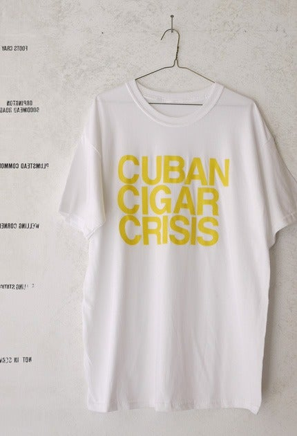 Image of Stacked Type T-Shirt / Yellow & White