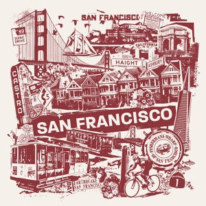 Image of San Francisco California City Print
