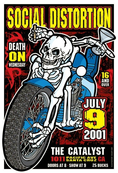Image of Social Distortion Motorcyle Poster 2001