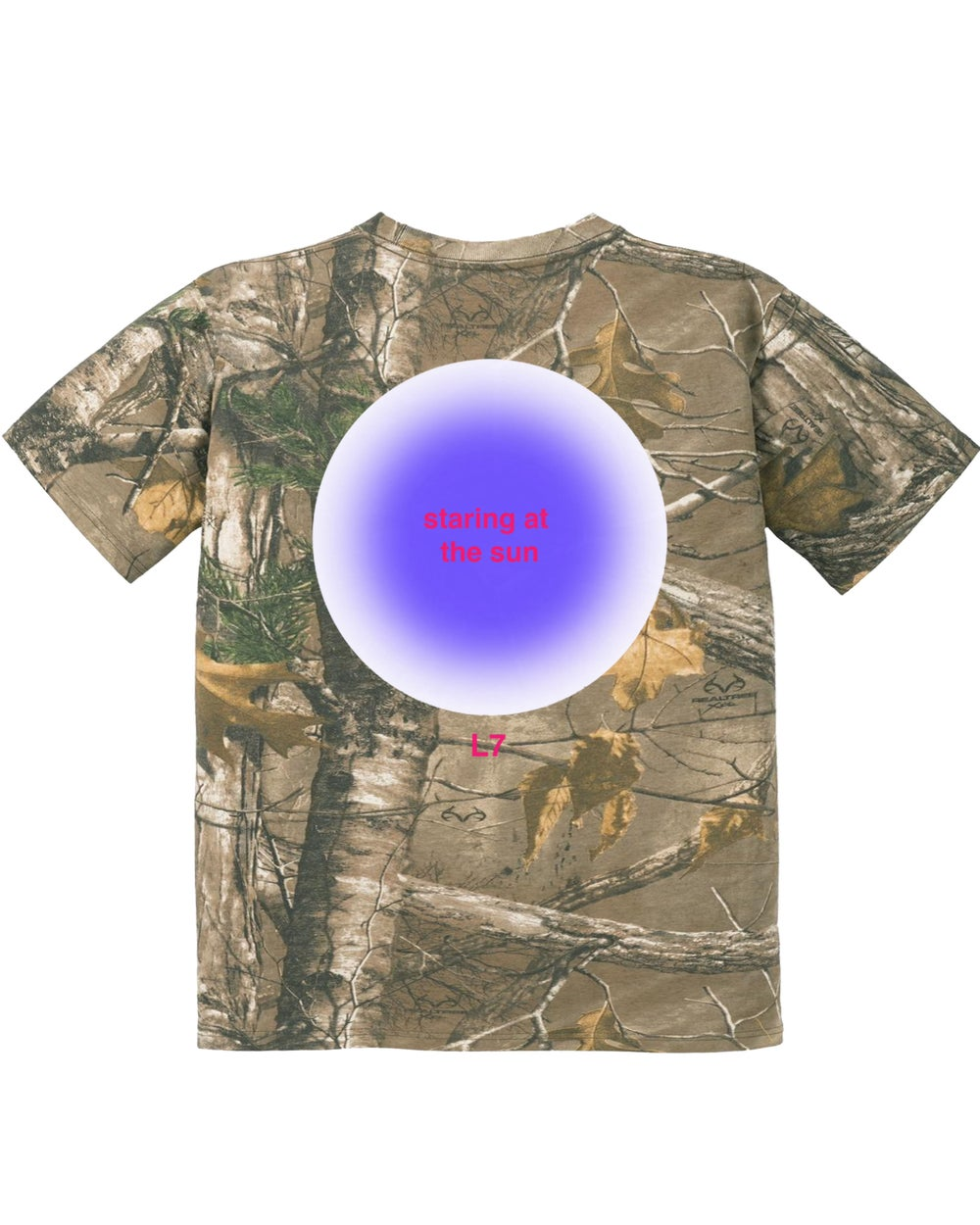 Image of STARING AT THE SUN TEE (REAL TREE)