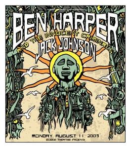 Image of Ben Harper And The Innocent Criminals & Jack Johnson Poster 2003