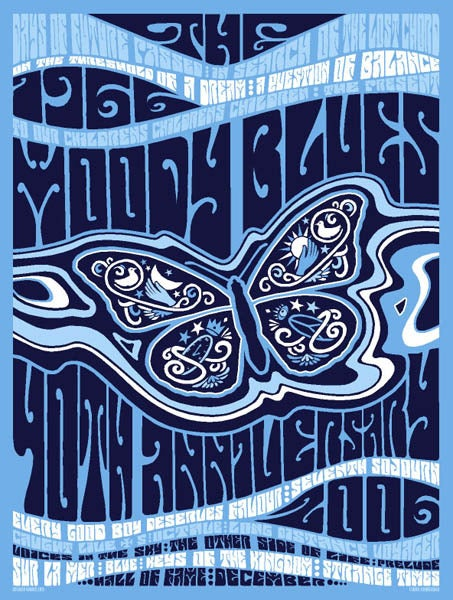 Image of The Moody Blues 40th Anniversary Poster