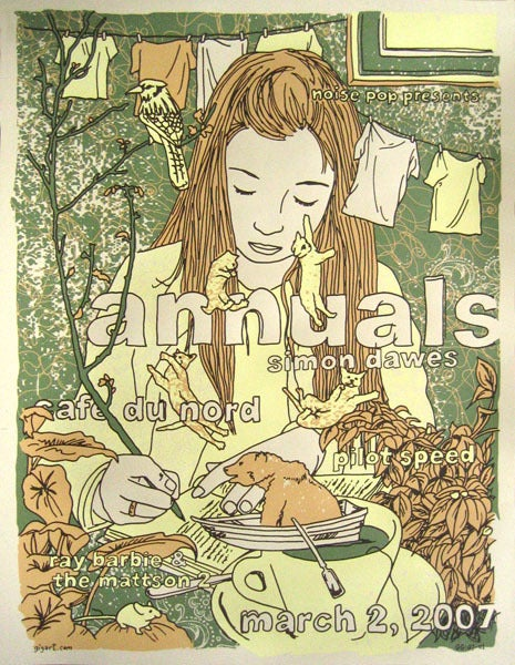 Image of Annuals, Dawes Noise Pop Poster 2007