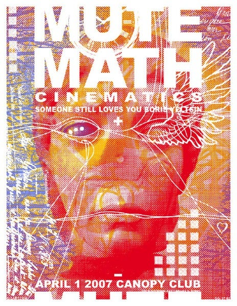 Image of Mute Math Poster 2007