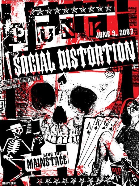 Image of Social Distortion BFD Poster 2007
