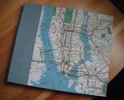 Image of Hand-bound Manhattan Map Sketchbook