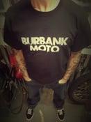 Image of NEW! Burbank Moto Men's Tee.     WHITE on BLACK