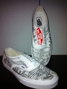 Image of hand drawn vans trainers