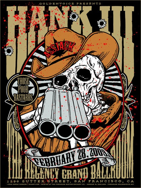 Image of Hank Williams III 3 Shotgun Poster 2009