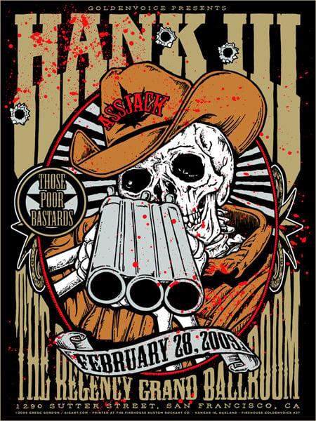 Image of Hank Williams III 3 Shotgun Poster 2009