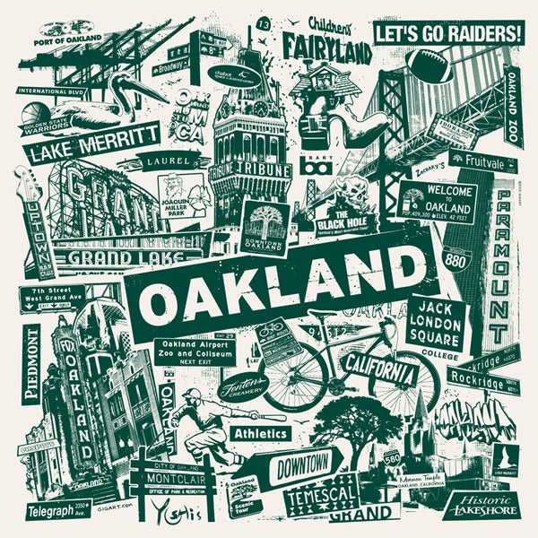 Image of Oakland California City Print
