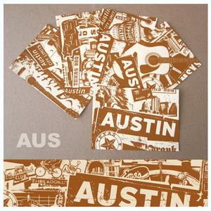 Image of 5 Pack Austin Texas City Postcard Set
