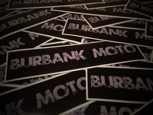 "Image of NEW! Burbank Moto ""Urbano"" Decal. GREY. (2) Free Shipping!"