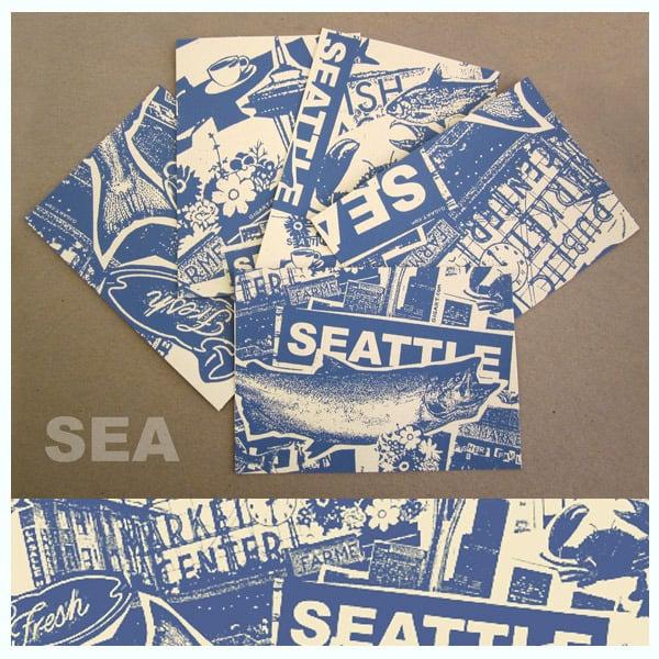 Image of 5 Pack Seattle City Postcard Set