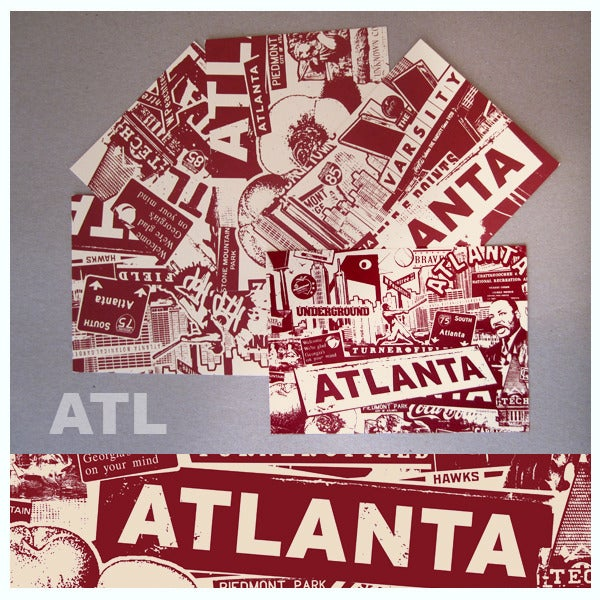 Image of 5 Pack Atlanta City Postcard Set