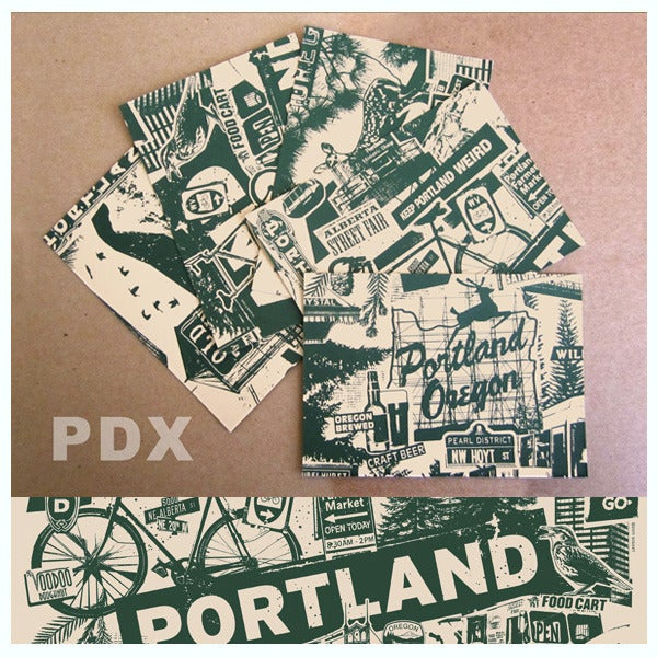 Image of 5 Pack Portland City Postcard Set