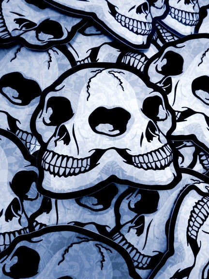 Image of Double Skull Die Cut Vinyl Sticker