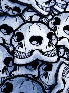Image of Double Skull Die Cut Vinyl Sticker