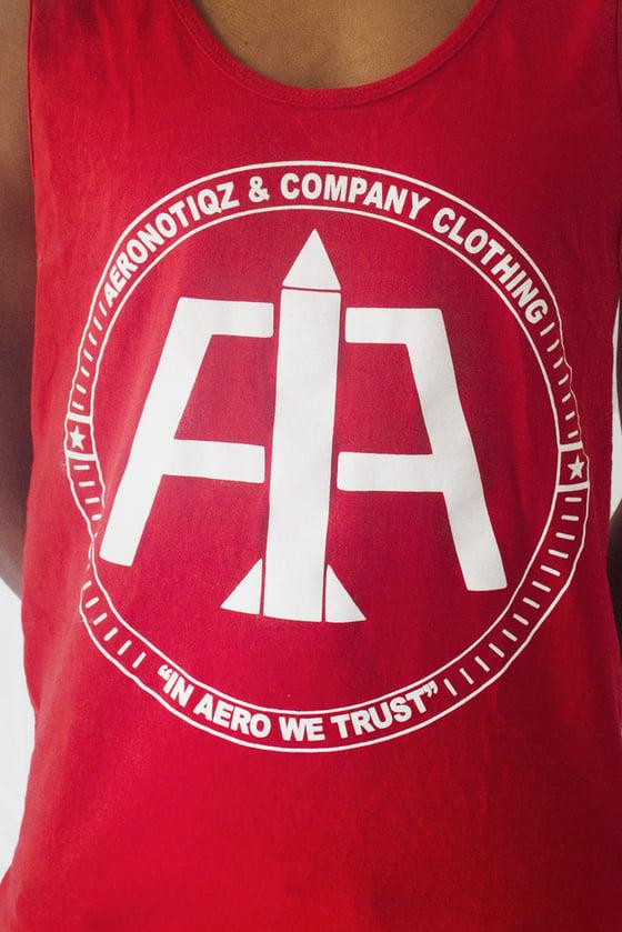 Image of Red Aeronotiqz Logo Tank