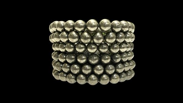 Image of pyrite stretch bracelets