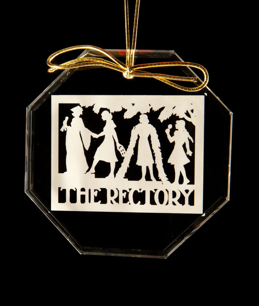 Image of Rectory Sign Glass Ornament (shapes of ornaments vary)