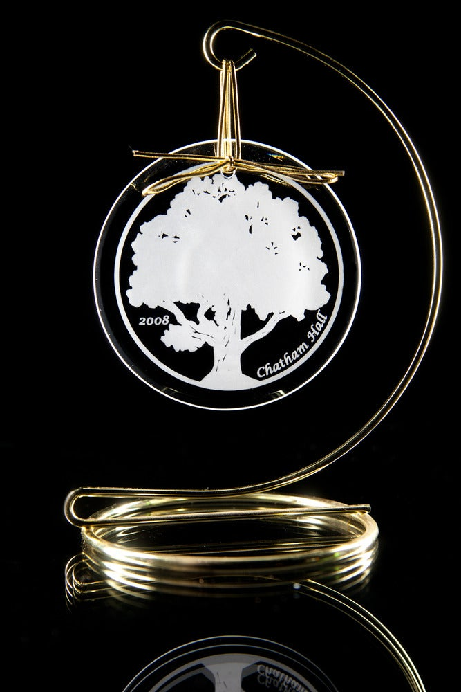 Image of Chatham Hall Oak Tree Glass Ornament