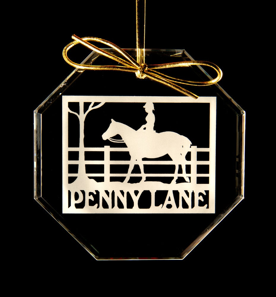Image of Penny Lane Glass Ornament (shape of ornament is round)