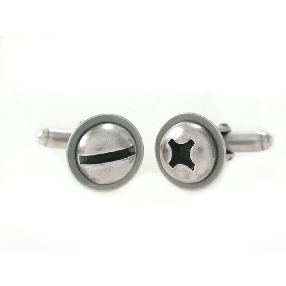 Image of round screw cufflinks