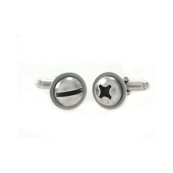 Image of round screw cufflinks