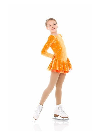 Image of Orange Skate Dress with Sparkles