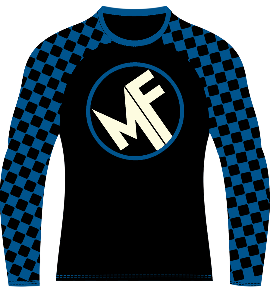 Image of Super Chess Ranked Rashguard Long Sleeve (BLUE)