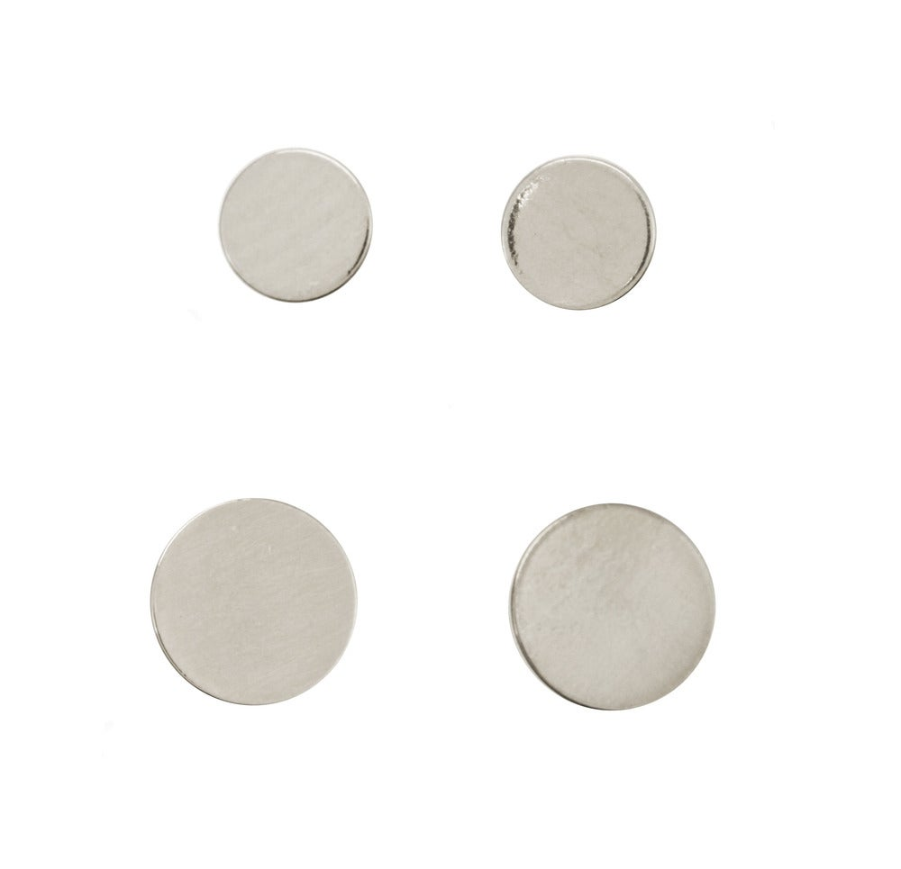 men guys gold gallery flat teens rockers l cool stud disc for earrings