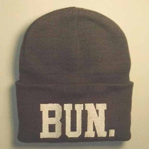 Image of Bun. beanie grey