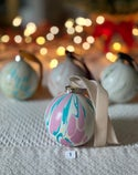 Marbled Ornaments - Holly
