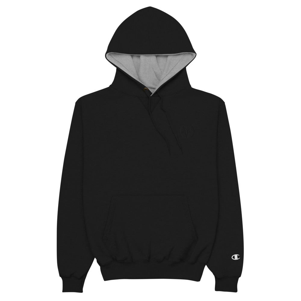 Black on Black Embroidered Toybox Logo Champion Hoodie