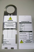 Image of Scaff Tag - tag only (price includes GST)
