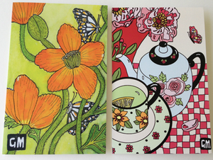 Image of Poppies and Green Tea card Pack